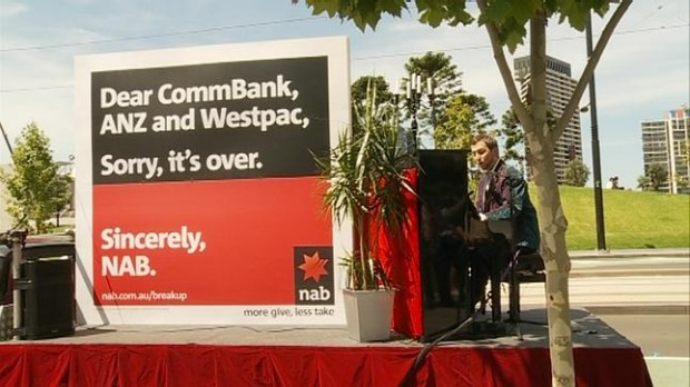 """nab s break up campaign and the Makes me laugh: funny b2b marketing campaigns we can learn  nab """" broke up"""" with the other big three banks via a dear john-style print."""